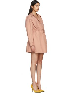 photo Pink Faux-Leather Collar Dress by Stella McCartney - Image 2