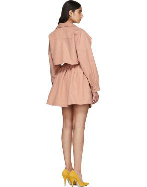 photo Pink Faux-Leather Collar Dress by Stella McCartney - Image 3
