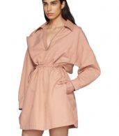 photo Pink Faux-Leather Collar Dress by Stella McCartney - Image 5