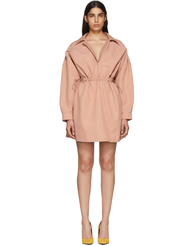 photo Pink Faux-Leather Collar Dress by Stella McCartney - Image 1