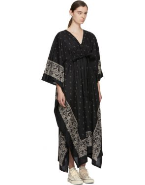 photo Black Kaftan Bandana Dress by Visvim - Image 2
