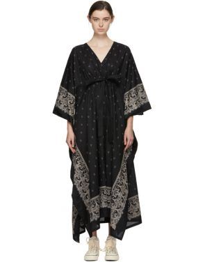 photo Black Kaftan Bandana Dress by Visvim - Image 1