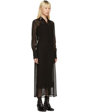 photo Black Floor-Length Shirt Dress by Yang Li - Image 2