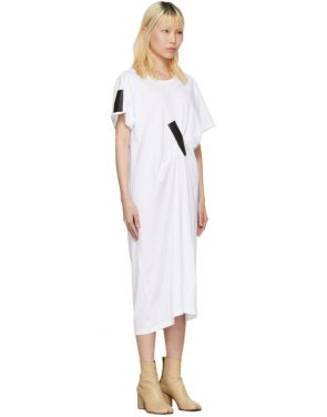 photo White and Black Tape T-Shirt Dress by Facetasm - Image 2