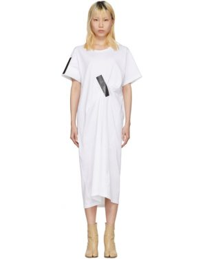 photo White and Black Tape T-Shirt Dress by Facetasm - Image 1