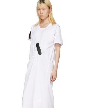 photo White and Black Tape T-Shirt Dress by Facetasm - Image 4