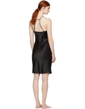 photo Black T-Strap Slip Dress by Fleur du Mal - Image 3