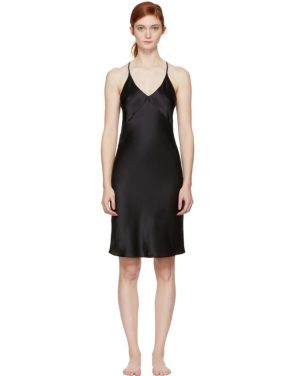 photo Black T-Strap Slip Dress by Fleur du Mal - Image 1