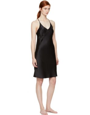 photo Black T-Strap Slip Dress by Fleur du Mal - Image 4