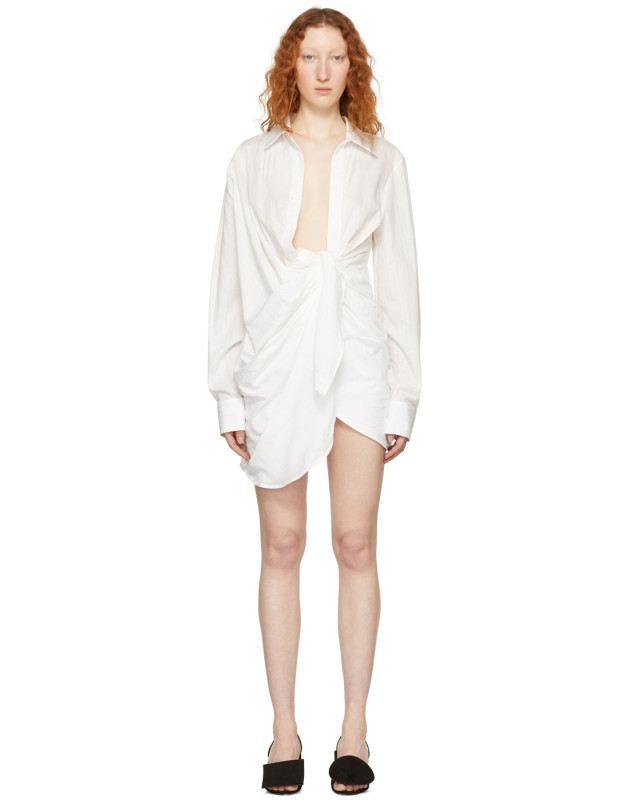 photo White La Tunique Bahia Dress by Jacquemus - Image 1