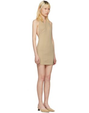 photo Beige La Maille Drapeado Longue Dress by Jacquemus - Image 2