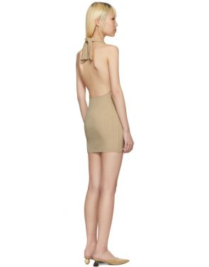 photo Beige La Maille Drapeado Longue Dress by Jacquemus - Image 3
