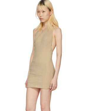 photo Beige La Maille Drapeado Longue Dress by Jacquemus - Image 4