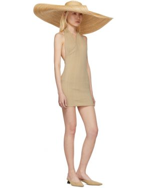 photo Beige La Maille Drapeado Longue Dress by Jacquemus - Image 5