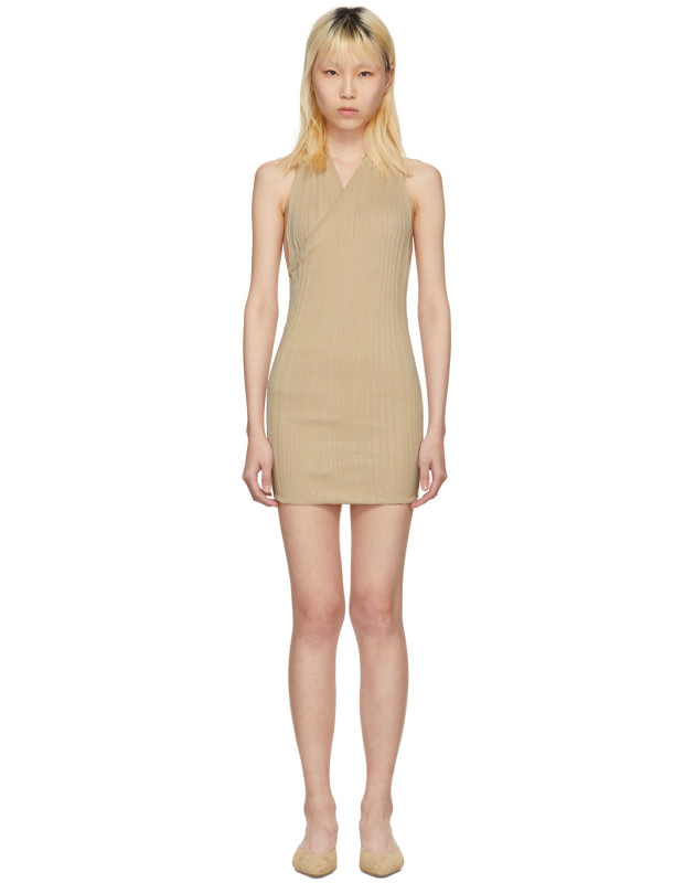 photo Beige La Maille Drapeado Longue Dress by Jacquemus - Image 1