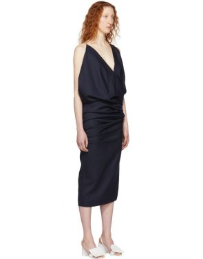 photo Navy La Robe Sao Dress by Jacquemus - Image 2