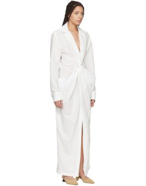 photo White La Robe Bolso Longue Dress by Jacquemus - Image 2