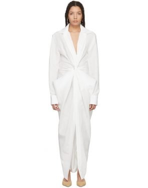 photo White La Robe Bolso Longue Dress by Jacquemus - Image 1