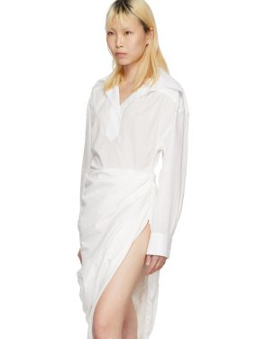 photo White La Robe Amadora Dress by Jacquemus - Image 4