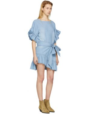 photo Blue Lelicia Dress by Isabel Marant Etoile - Image 4