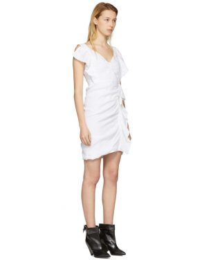 photo White Topaz Dress by Isabel Marant Etoile - Image 2