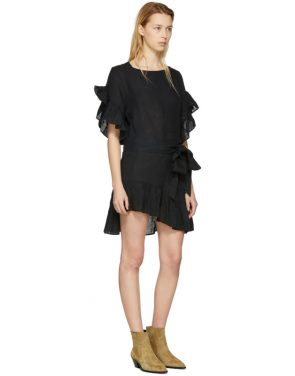 photo Black Delicia Dress by Isabel Marant Etoile - Image 4