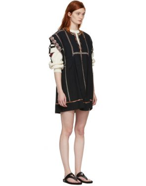 photo Black Embroidered Belissa Dress by Isabel Marant Etoile - Image 2