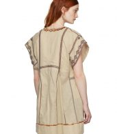 photo Beige Embroidered Belissa Dress by Isabel Marant Etoile - Image 3