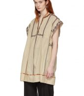 photo Beige Embroidered Belissa Dress by Isabel Marant Etoile - Image 5
