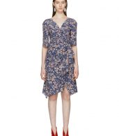 photo Blue Silk Brodie Dress by Isabel Marant - Image 1