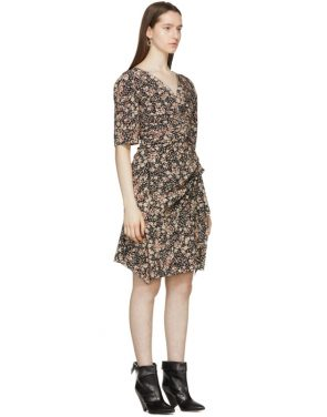 photo Black Silk Brodie Dress by Isabel Marant - Image 2