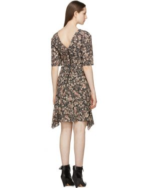photo Black Silk Brodie Dress by Isabel Marant - Image 3