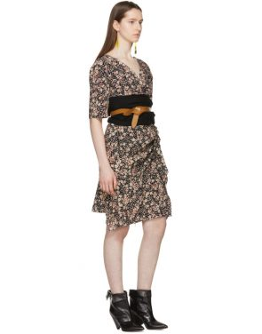 photo Black Silk Brodie Dress by Isabel Marant - Image 4
