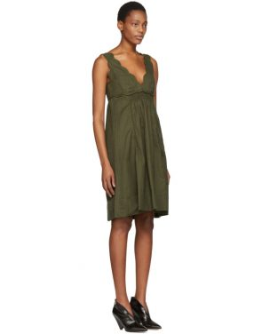 photo Khaki Wilby Wavy Vintage Dress by Isabel Marant - Image 2