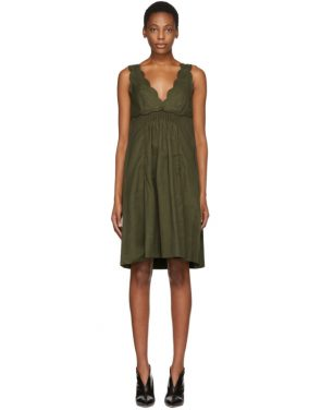photo Khaki Wilby Wavy Vintage Dress by Isabel Marant - Image 1