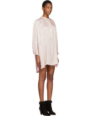 photo Pink Striped Idoa Dress by Isabel Marant - Image 2