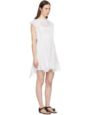 photo White Kunst Broderie Anglaise Short Dress by Isabel Marant - Image 2