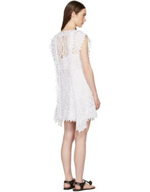 photo White Kunst Broderie Anglaise Short Dress by Isabel Marant - Image 3