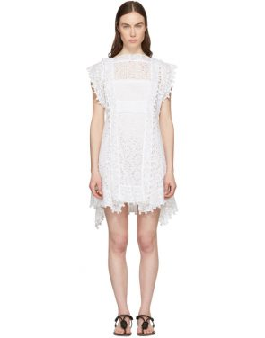 photo White Kunst Broderie Anglaise Short Dress by Isabel Marant - Image 1