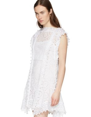 photo White Kunst Broderie Anglaise Short Dress by Isabel Marant - Image 4