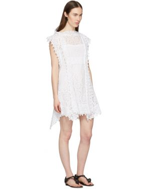 photo White Kunst Broderie Anglaise Short Dress by Isabel Marant - Image 5