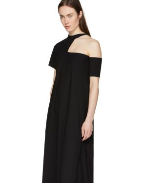 photo Black Cut-Out Shoulder Dress by Toga - Image 4