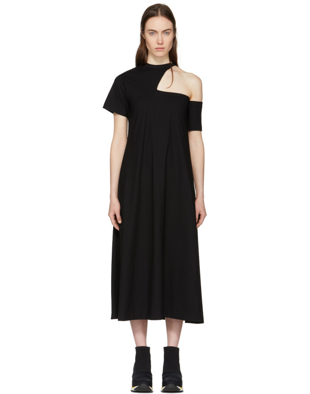 photo Black Cut-Out Shoulder Dress by Toga - Image 1