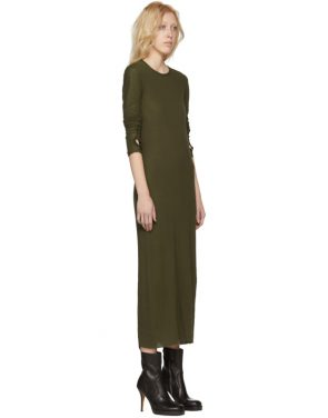 photo Green Long Sleeve T-Shirt Dress by Boris Bidjan Saberi - Image 2