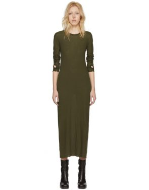 photo Green Long Sleeve T-Shirt Dress by Boris Bidjan Saberi - Image 1