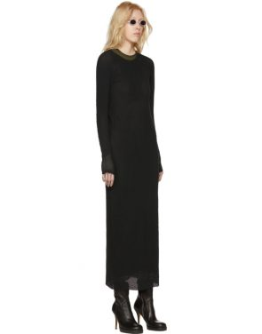 photo Black Object Dyed Dress by Boris Bidjan Saberi - Image 2