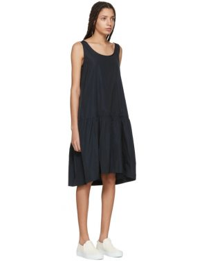 photo Navy Taffeta Dress by Jil Sander Navy - Image 2