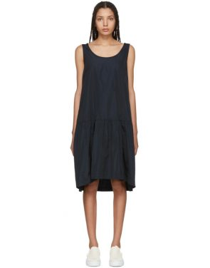 photo Navy Taffeta Dress by Jil Sander Navy - Image 1