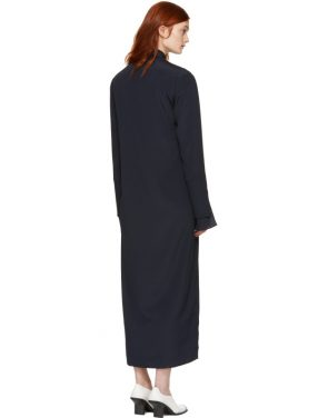photo Navy Zip Front Shirt Dress by Nomia - Image 3