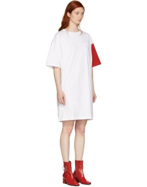 photo White and Red California Club T-Shirt Dress by SJYP - Image 2